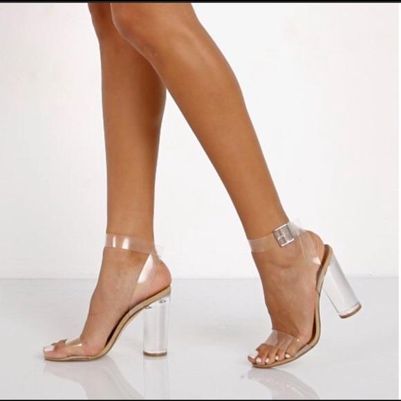 c7d6e73ad64 Steve Madden Clearer Clear Heels. M 5c843e77819e903182a90c12